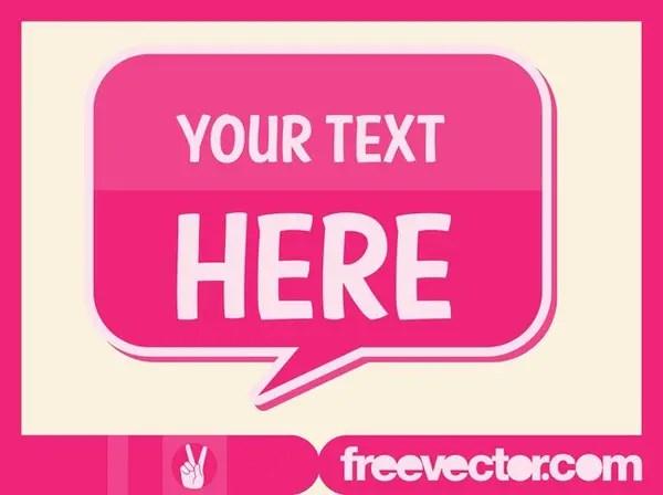 Speech Bubble Sticker Free Vector