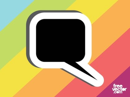 Speech Bubble Sticker Template Free Vector