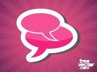 Speech Bubbles Sticker Free Vector