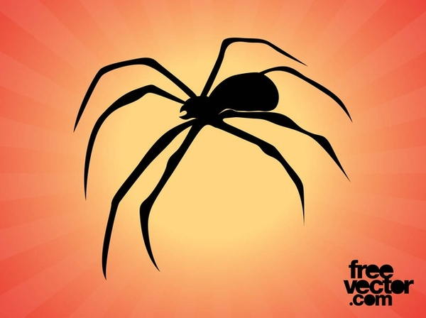 Spider Silhouette Free Vector
