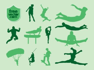 Sports Silhouettes Free Vector