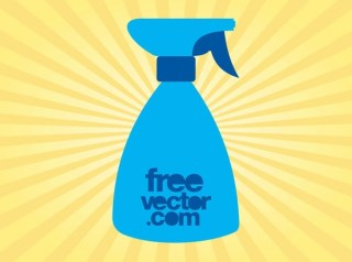 Spray Bottle Silhouette Free Vector