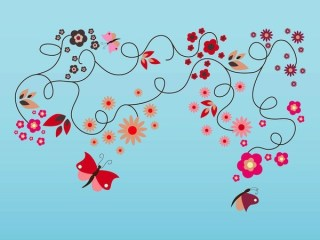 Spring Flourishes Free Vector