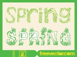 Spring Type Art s Free Vector