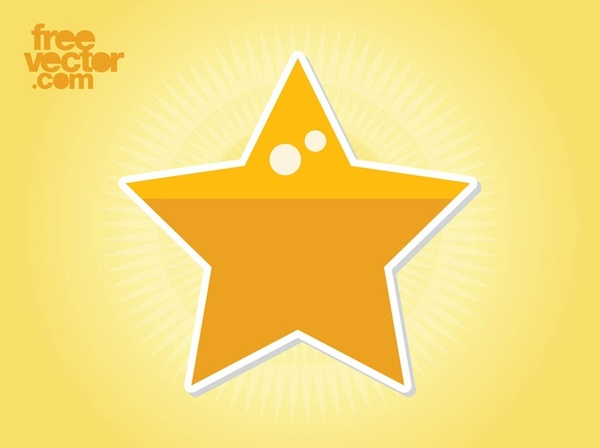 Star Sticker Clip Art Free Vector
