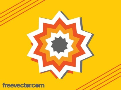 Star Sticker Design Free Vector