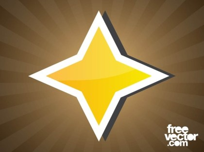 Star Sticker Free Vector