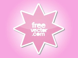 Star Sticker Free Vector