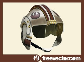 Star Wars Rebel Pilot Helmet Free Vector