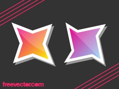 Stars Stickers Free Vector
