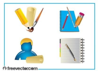 Stationery Set Free Vector