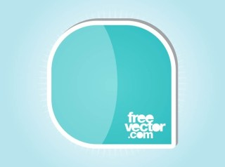 Sticker Design With Rounded Corners Free Vector
