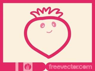 Strawberry Cartoon Free Vector