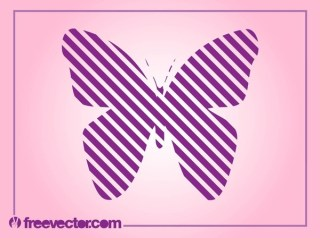 Striped Butterfly Free Vector