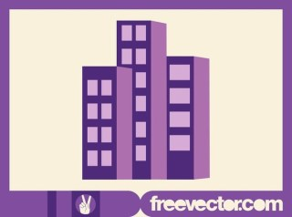 Stylized Apartment Buildings Free Vector