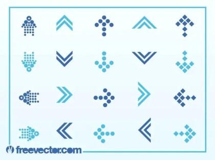 Stylized Arrows Free Vector