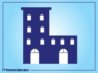 Stylized Building Layout Free Vector