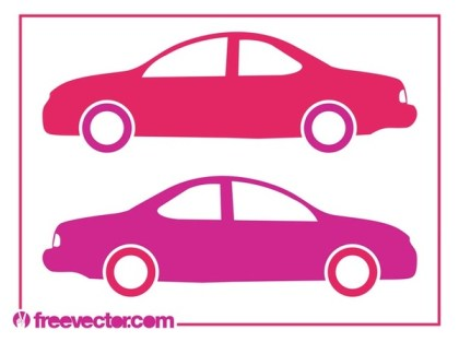 Stylized Car Silhouettes Free Vector