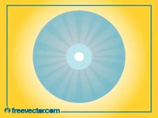 Stylized CD Illustration Free Vector
