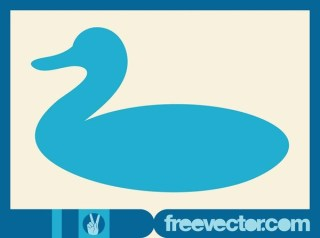 Stylized Duck Free Vector