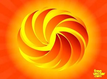 Stylized Fireball Free Vector