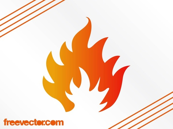 Stylized Flame Free Vector