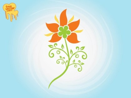 Stylized Flower Free Vector