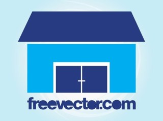 Stylized House Icon Free Vector