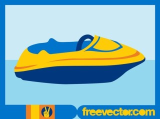 Stylized Motorboat Free Vector