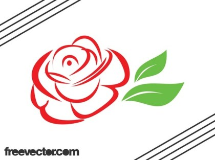 Stylized Rose Free Vector
