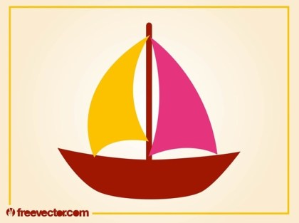 Stylized Sailboat Free Vector