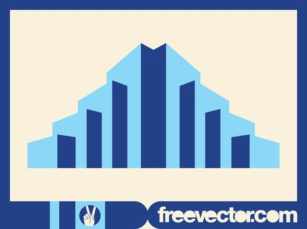 Stylized Skyscrapers Free Vector