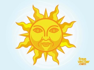 Stylized Sun Free Vector