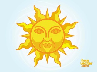 Stylized Sun Free Vector