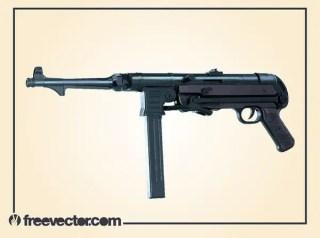 Submachine Gun Free Vector