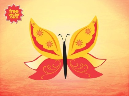 Summer Butterfly Free Vector