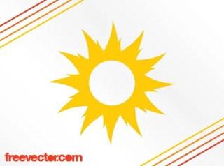 Sun Icon Design Free Vector