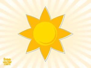 Sun Sticker Free Vector