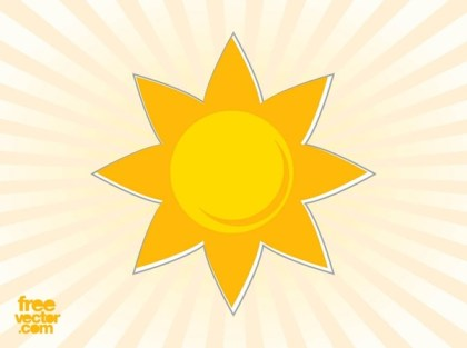Sun Sticker Free Vector