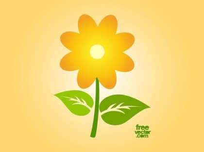 Sunflower Icon Free Vector