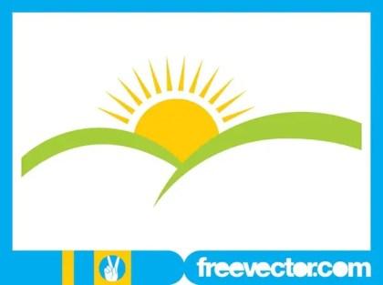 Sunrise Icon Design Free Vector