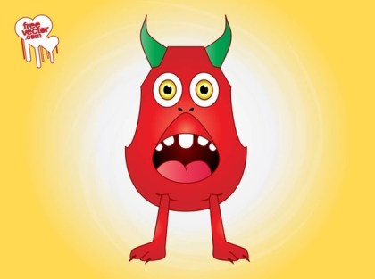 Surprised Cartoon Monster Free Vector
