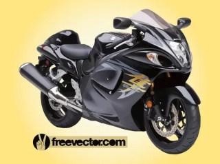 Suzuki Hayabusa Motorcycle Free Vector