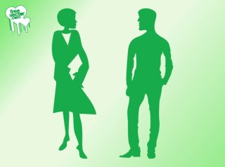 Talking Man and Woman Silhouettes Free Vector