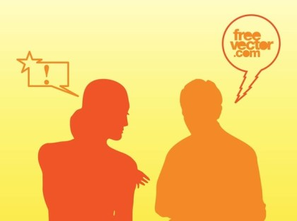 Talking People Free Vector