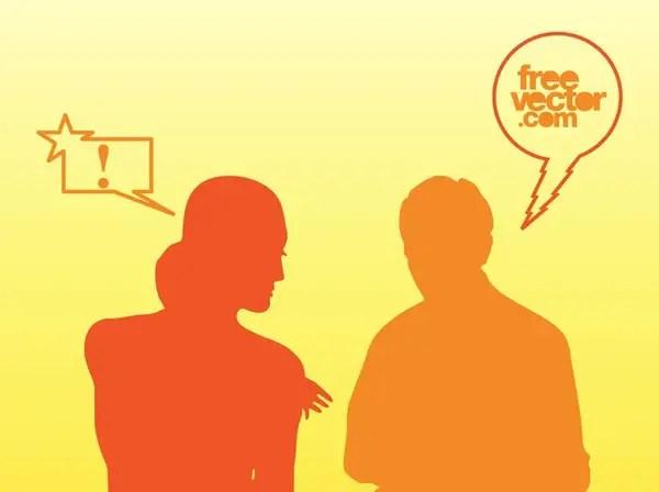 Talking People Free Vector