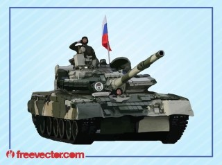 Tank and Soldiers Free Vector