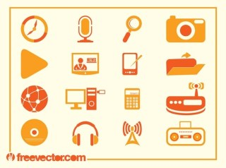 Tech Icons Free Vector