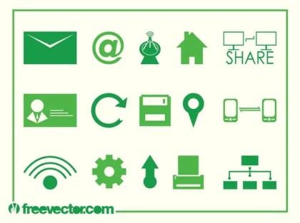 Tech Icons Free Vector