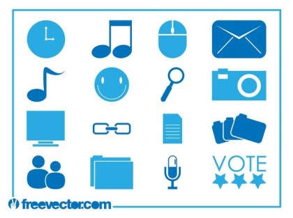 Tech Icons s Free Vector